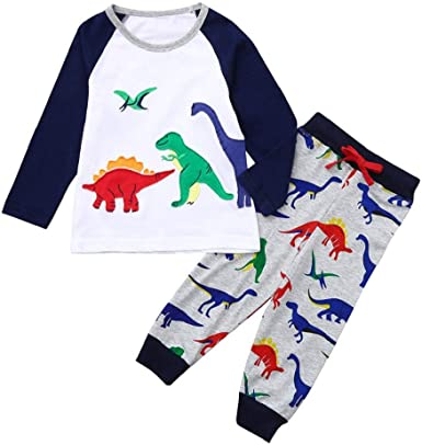 Leegor Toddler Kid Baby Girl Short Sleeve Dinosaur Printing Party Dress Outfits Clothes