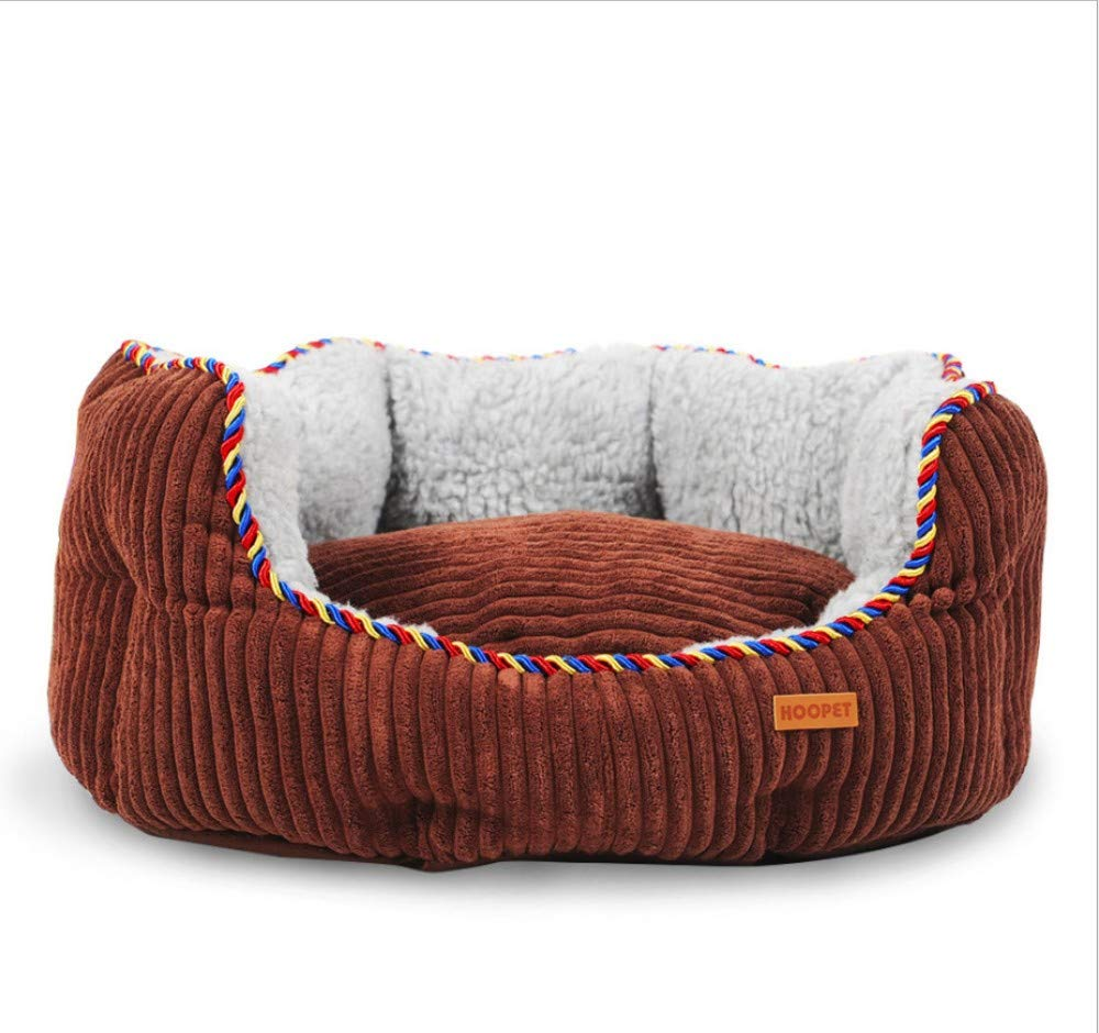 B S(60X52X20CM) B S(60X52X20CM) GZDXHN Dog House Mat Washable Soft Cashmere Pet Nest Teddy Dog Nest Pet Supplies,S(60X52X20Cm),B