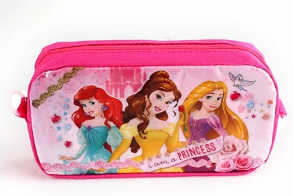 Estuche para lápices Disney Princesses Girls - 20cm x 10cm x 5cm: Amazon.es: Oficina y papelería