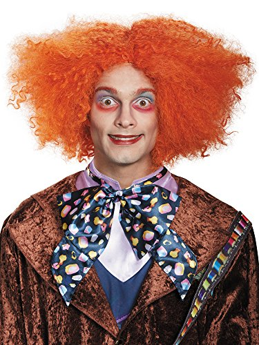 Adult Deluxe Mad Hatter Costume Orange Wig (Men Mad Hatter Costume)
