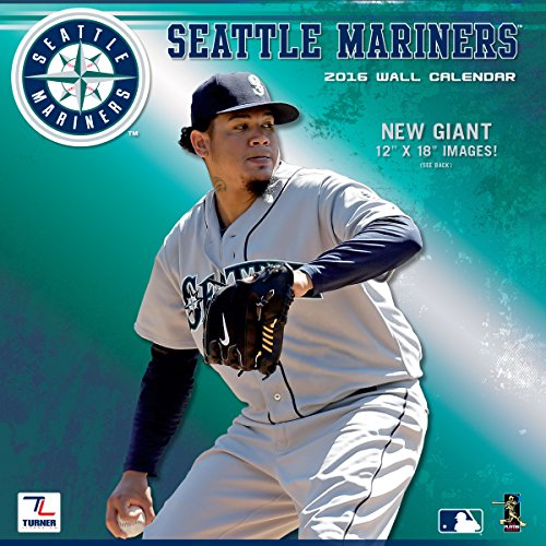 "Turner Seattle Mariners 2016 Team Wall Calendar, September 2015 - December 2016, 12 x 12"" (8011863)"