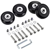 OwnMy Luggage Suitcase Replacement Wheels, Rubber Swivel Caster Wheels Bearings Repair Kits