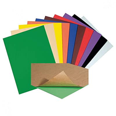 Creativity Street WonderFoam Peel & Stick Sheets, 9-inches x 12-inches, Assorted Colors, 20 Sheets (AC4309): Toys & Games