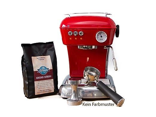 ascaso Dream - Portafiltros eléctrica, cafetera expreso para Barista Calidad Casa, con GRATIS Kult Aroma Espresso azul claro: Amazon.es: Hogar