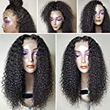 CLbuxi Hair Lace Front Human Hair Wig for Black Women Curly Hair Brazilian Virgin Remy Hair Glueless Full Lace Human Hair Wigs 130%-180% density Lace Front Wig with Baby Hair (14 inch,lace front wigs)