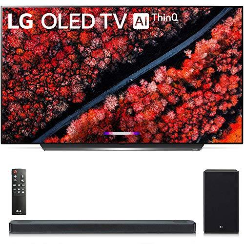 OLED65C9PUA 65″ C9 4K HDR Smart OLED TV w/AI ThinQ (2019 Model) w/ SL8YG 3.1.2 Channel High Res Audio Sound Bar