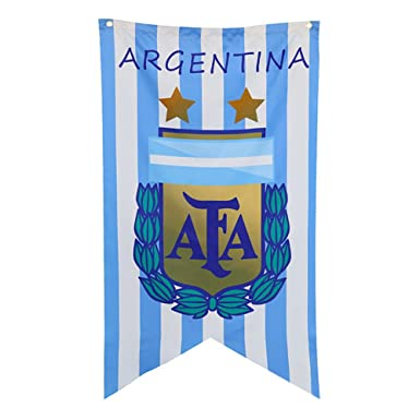 a4c5cc09a0a4 Yiwa 70x125CM FIFA World Cup Flag Banners Hanging Emblem Bunting for Bar  Party Decorations Argentine  Amazon.co.uk  Clothing