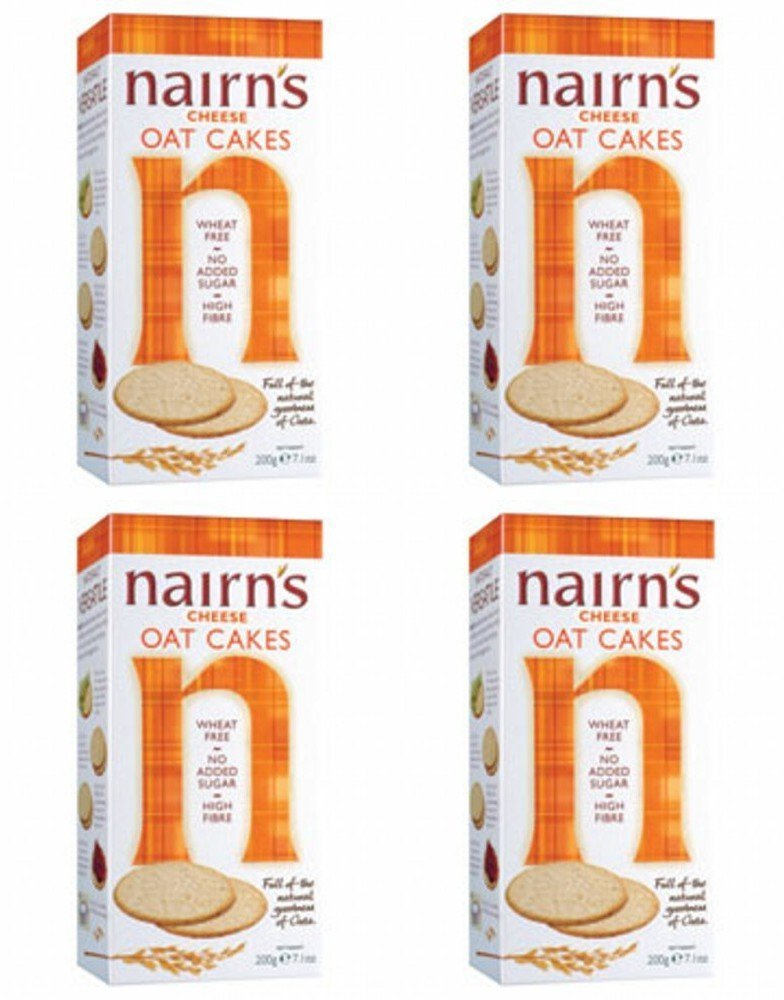 (4 PACK) - Nairns - Cheese Oat Cakes | 200g | 4 PACK BUNDLE NAIRN'S OATCAKES
