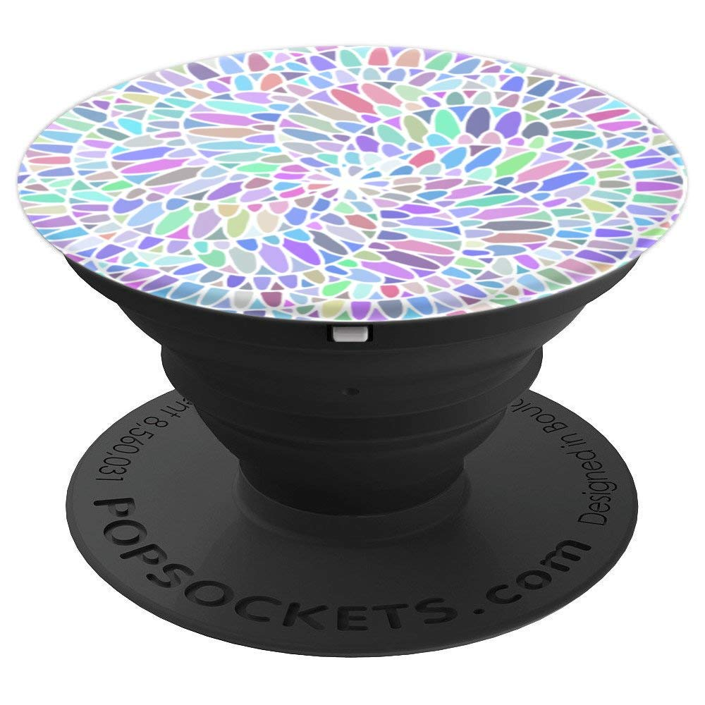 Colorful Trendy Mosaic Mandala Multicolor Pop Socket - PopSockets Grip and Stand for Phones and Tablets