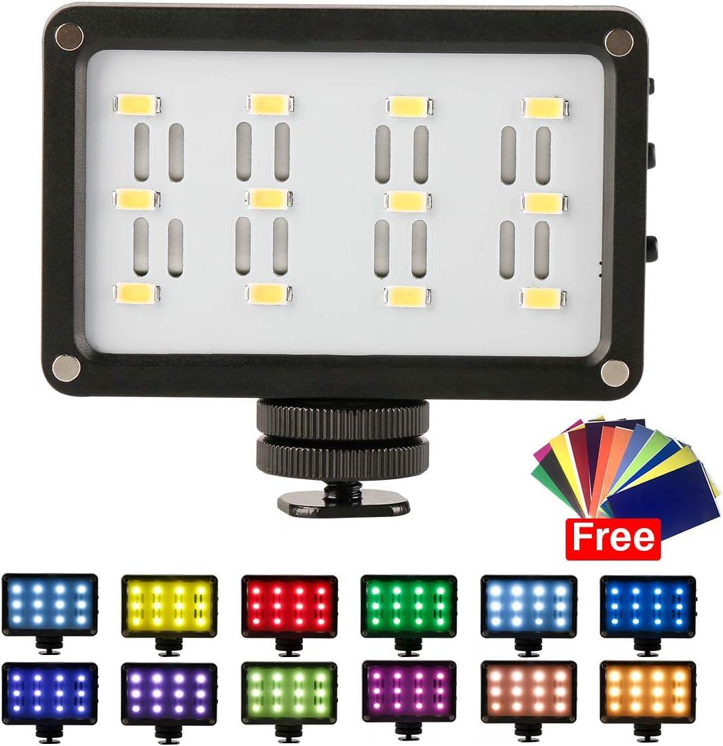 ULANZI Mini LED Video Light en c/ámara Luz fotogr/áfica Recargable con 12 geles de Color para Nikon Canon Sony DSLR Compatible con dji Osmo Mobile 2 Zhiyun Smooth 4 Smartphone Gimbal