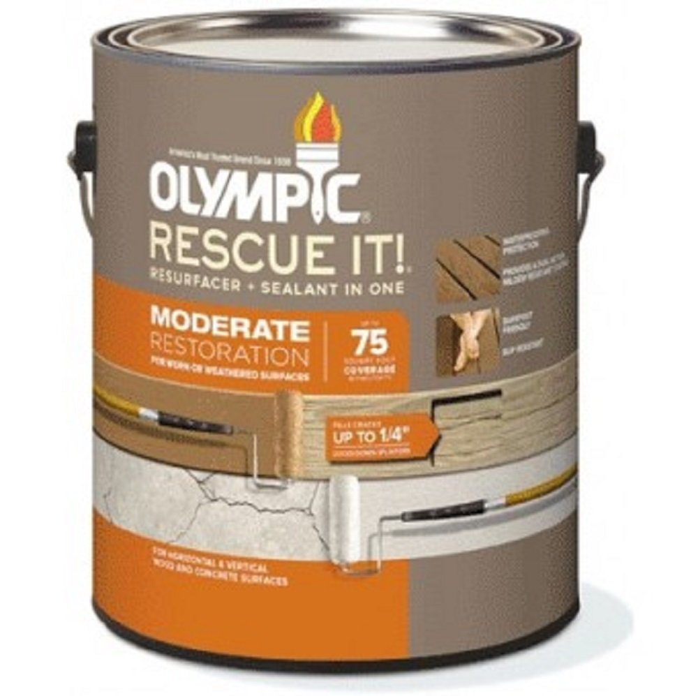 Olympic 79705/01 Rescue It Moderate Resurfacer + Sealant in One, 1 Gallon