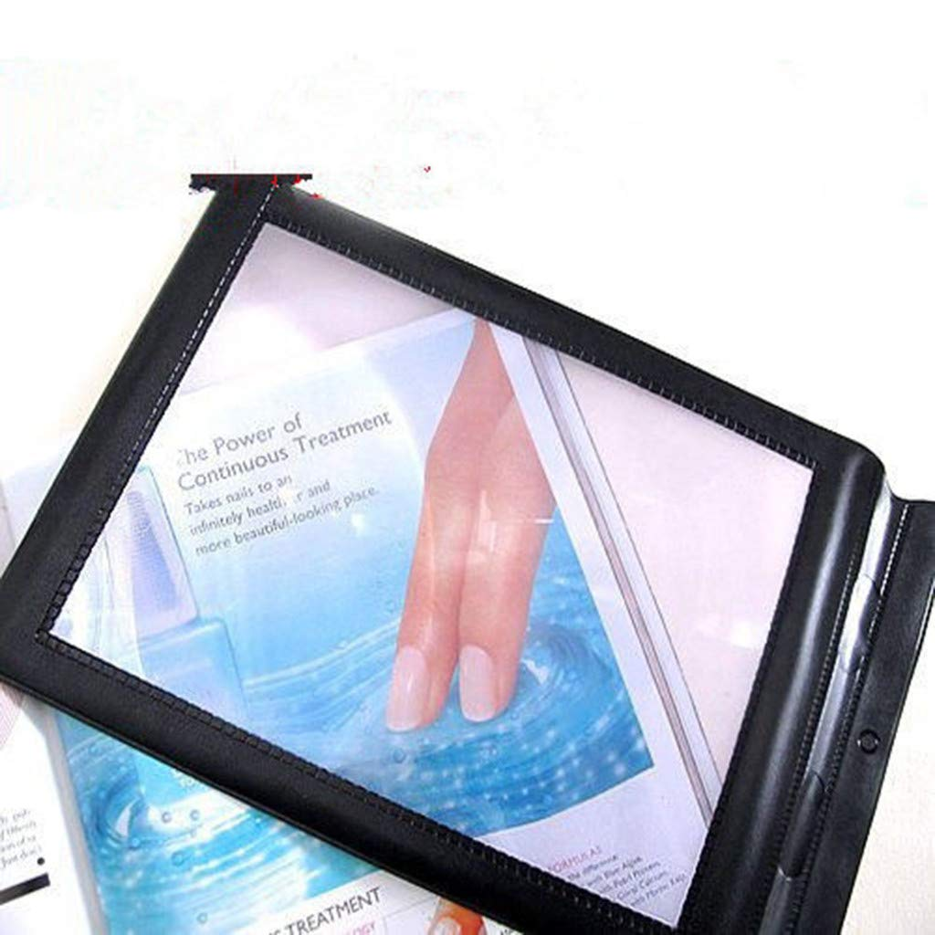 Koolee Full Page Magnifier, 3X A4 Reading Magnifier Large Magnifying Sheet Perfect for Reading Books & Newspapers & Low Vision Aids - Magnifies Entire Page (Black)