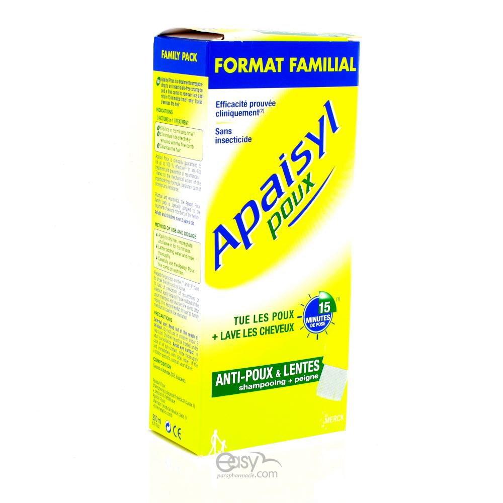 Apaisyl Poux Anti-Lice and Nits 100ml Merck 3401596307486