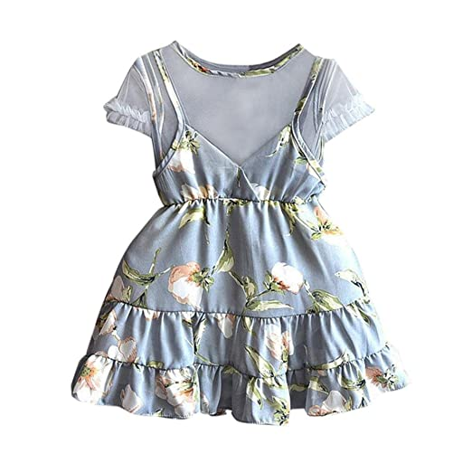 69e97267bc6c Euone® Girls Floral Dress Baby Infant Pageant Party Princess Dresses Summer  Outfits (4-