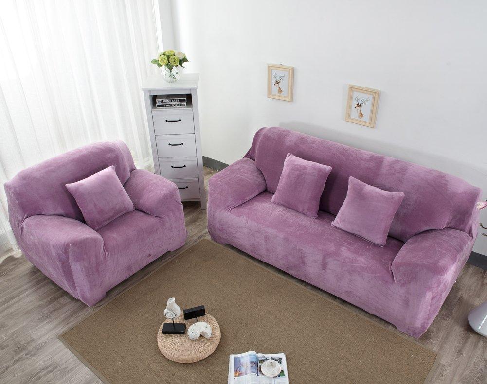 Monba Funda de sofá gruesas y suave para sofá de 1/2/3/4 ...