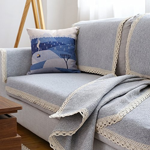 Sofa Slipcovers,Sofa Blankets And Throws Soft,Sofa Blanket Cover Couch Cover Decorative Knitted Blanket Anti-slip All-inclusive Full Cover-C 70x90cm(28x35inch) by Foxi