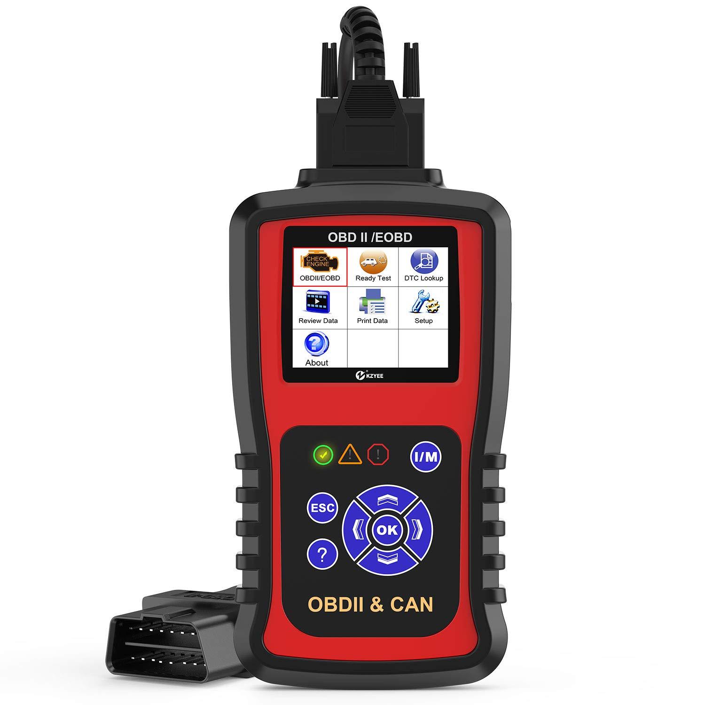 Kzyee KC301 Code Reader, Car OBD2 Scanner with Live Data/Emission Monitor  Status/O2 Sensor Data/Mode 6, Diagnostic Scan Tool for Check Engine Light