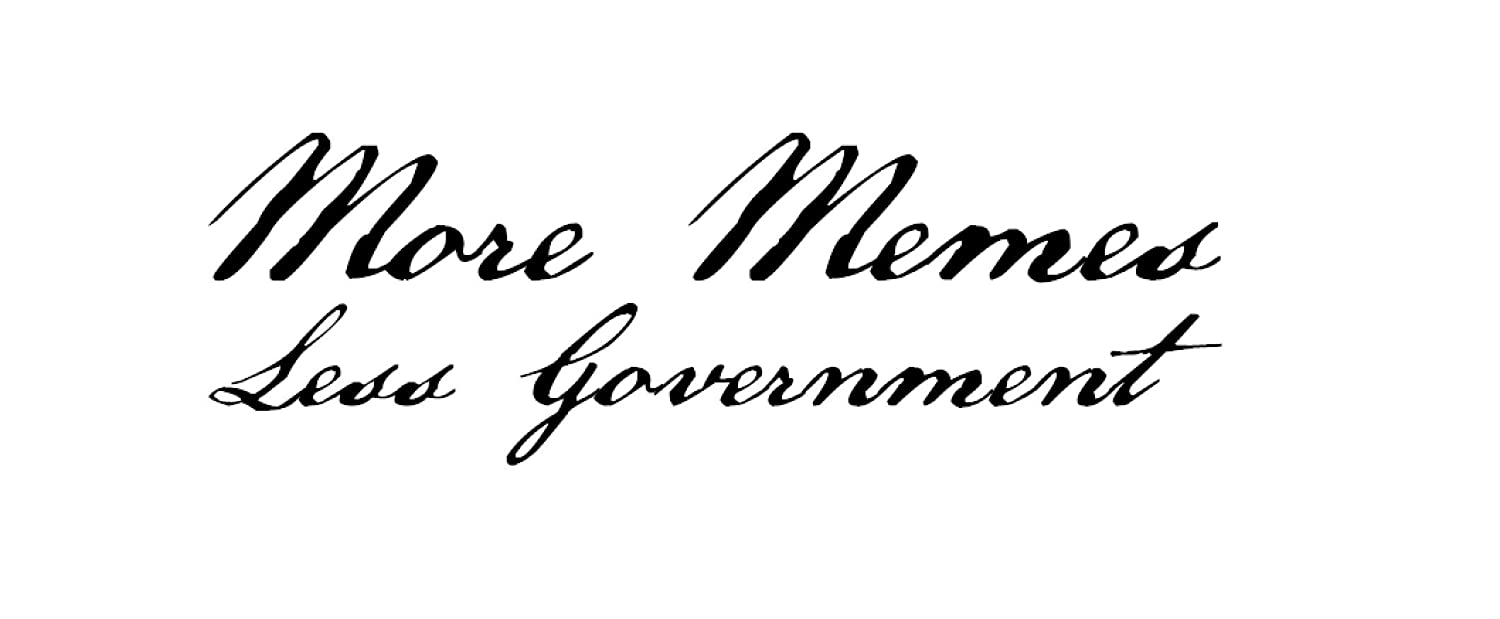More Memes Less Government Decal Multiple Colors Available