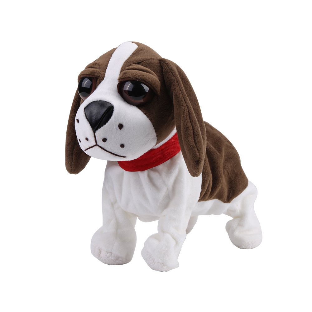 Fdit Peluche elettronico Dog Pets, lovely Barking Dog Plush Stuff Pet Puppy Kids Toy Electronic Sound Control cani, alimentazione a batteria #2