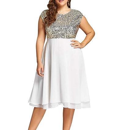 Amazon.com: BeautyVan Plus Size Prom Dress,Womens Scoop Neck ...