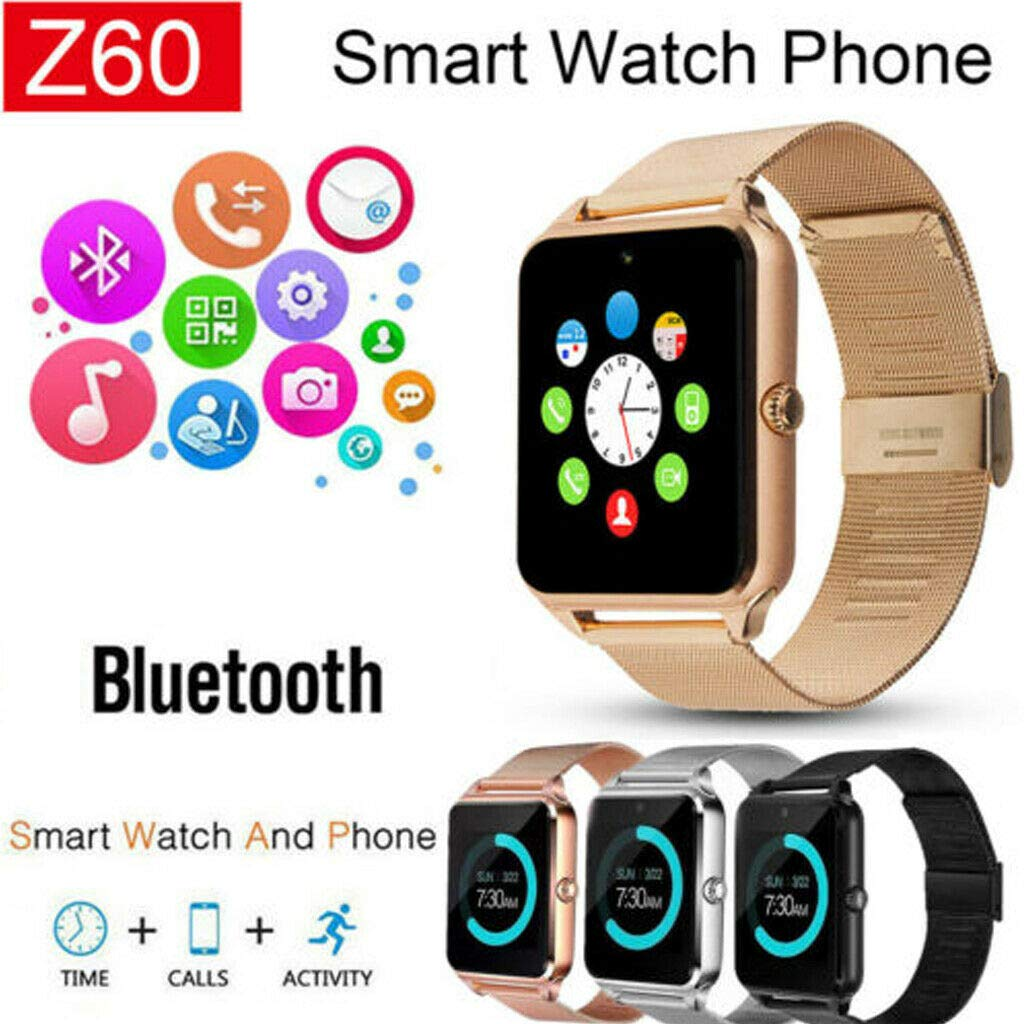 Amazon.com: Luiryare Smart Watch Phone, Stainless Steel ...