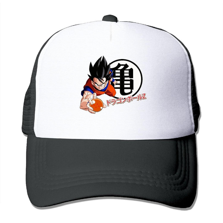 WuliNN Dragon Ball Z Saiyan Logo Mesh Trucker Hat Outdoor Adjustable Baseball Cap For Unisex