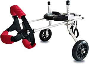 ZZXY Dog Wheelchair,Adjustable Dog Pet Wheelchair, Hind Legs Rehabilitation,for Handicapped Hind Legs Small Dog Cat/Doggie/Puppy Walk