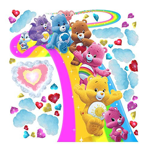 (Care Bears Large Surfing Rainbow Wall Decal Set)