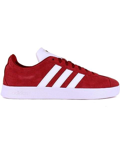 premium selection afee5 bd3a4 adidas VL Court 2.0 K F36377 Gazelle Sneakers camoscio Rosso  Amazon.it   Scarpe e borse