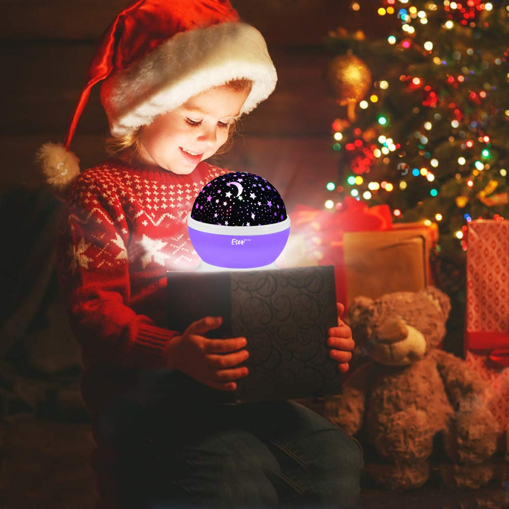 [Update]Esonstyle Musical Night Light,360 Rotating Star Lamp Baby Musical Lamp with Rechargeable Battery,12 Songs to Relax for Sleep Kids Babies Birthday Children Day Christmas Gift by esonstyle (Image #6)