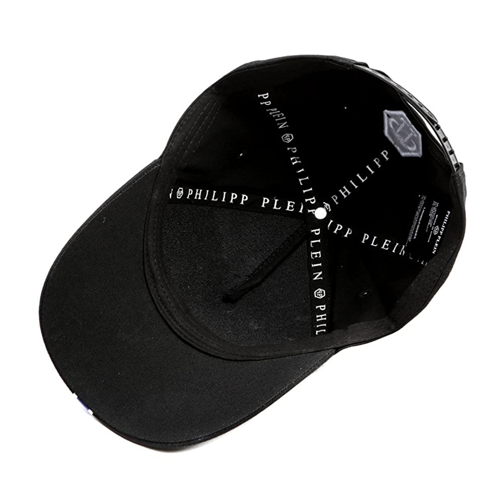 00b07f79c2 Wiberlux Philipp Plein Glory Two Unisex White Skull Print Baseball Cap One  Size Black at Amazon Men's Clothing store:
