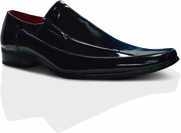 Xelay - Zapatos formales para hombre o hombre, color negro bronceado, ajuste normal, forro de piel, tallas 36 a 12