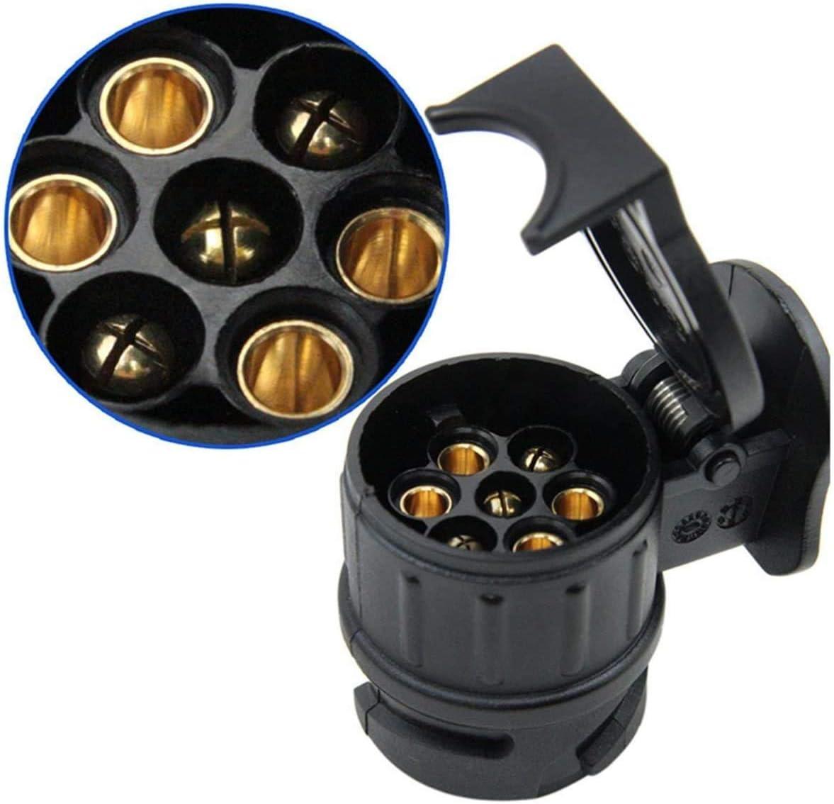 Steckeradapter Anh/ängerkupplung Konverterstecker Wasserdichter 13-poliger auf 7-poligen Anh/ängeradapter Steckdose f/ür Wohnwagen und LKW