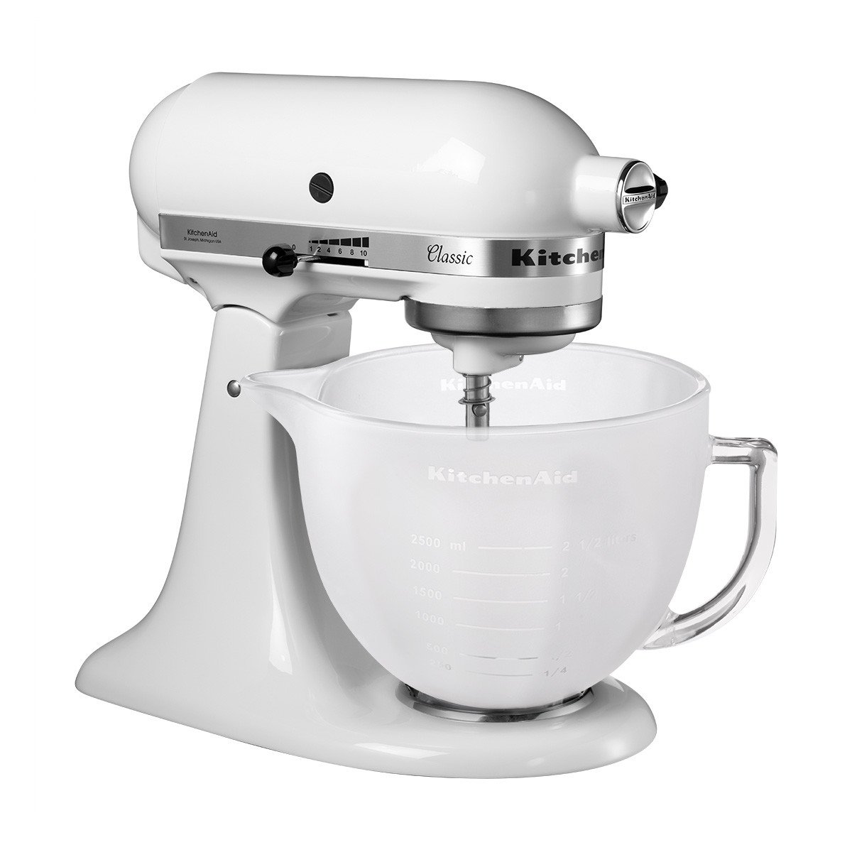 KitchenAid 5K5GBF Frosted Glass Bowl, 4.8 Litre (Optional Accessory For  Stand Mixers): Amazon.co.uk: Kitchen U0026 Home
