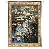 Fine Art Tapestries Summer Lily Large Wall Tapestry 2272-WH 53 inches wide by 64 inches long, 100% cotton