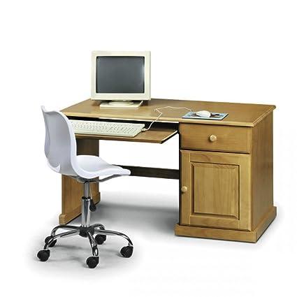 Surfer para ordenador pino macizo mesa de trabajo con estante ...
