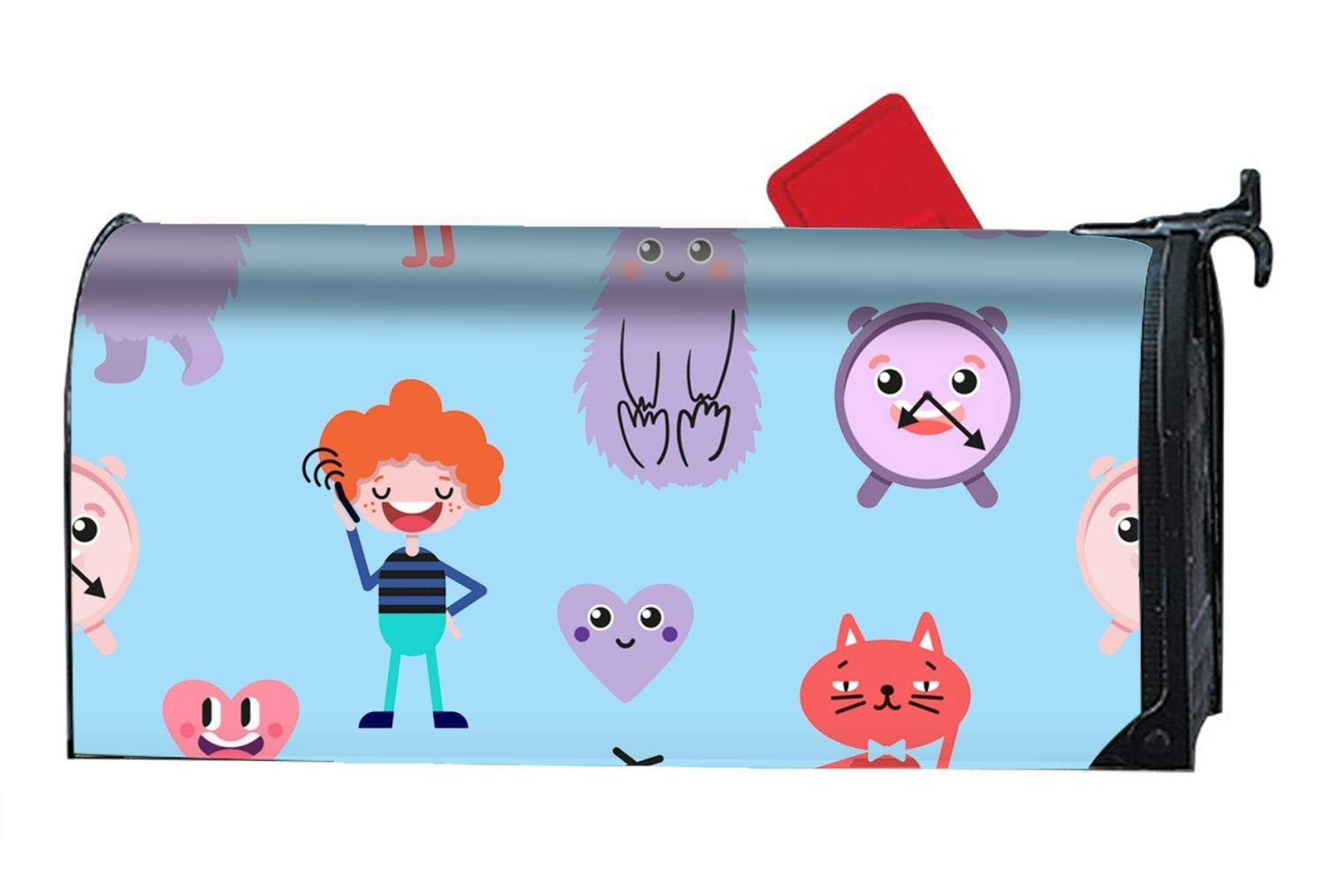 Amazon com xw fgf cute cartoon funny monsters heart love boy magnetic mailbox cover decorative mailboxes makeover garden outdoor
