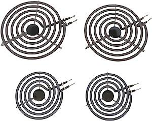 """Kitchen Basics 101: 4 Piece Set MP22YA Electric Range Burner Surface Element (2) MP15YA 6"""", (2) MP21YA 8"""""""