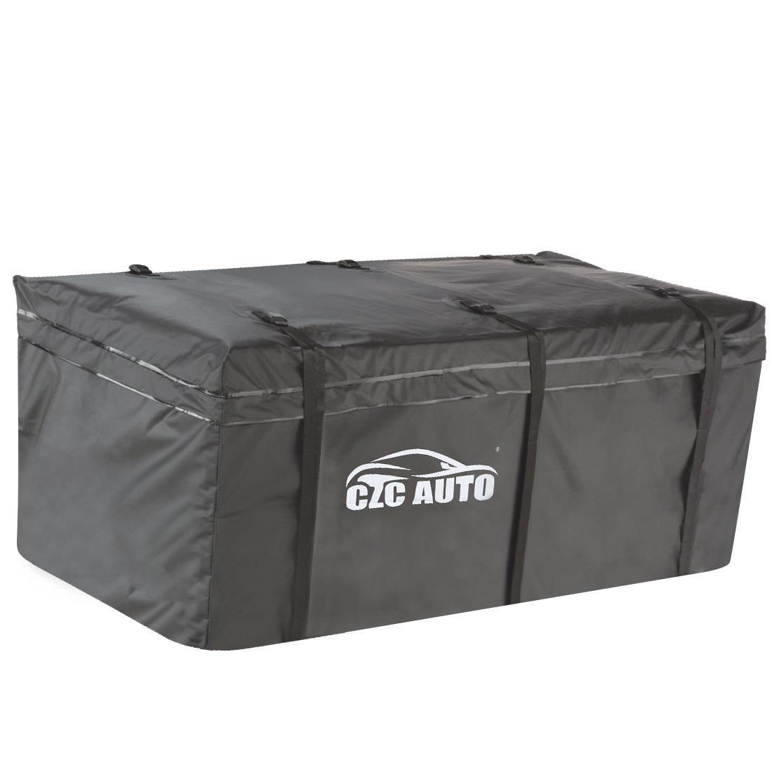 CZC AUTO Hitch Cargo Carrier Bag, 20 cu. ft Waterproof/Rainproof/Weatherproof Cargo Traveling Bag for Car Truck SUV Vans' Hitch Trays and Hitch Baskets, Safe Steady Durable Soft, Black by CZC AUTO