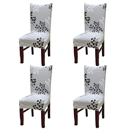 Nigecue Dining Chair CoverSuper Fit Stretch Removable Washable Short Protector Cover With Printed
