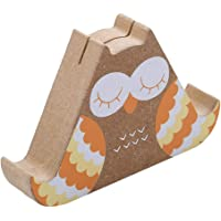VWH Wood Colorful Stand Owl Design Bookends Desktop Product Display Board Office School Stationery Decor Card Holder(#03)
