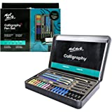 Mont Marte Calligraphy Set, 32 Piece. Includes Calligraphy Pens, Calligraphy Nibs, Ink Cartridges, Introduction Booklet and E