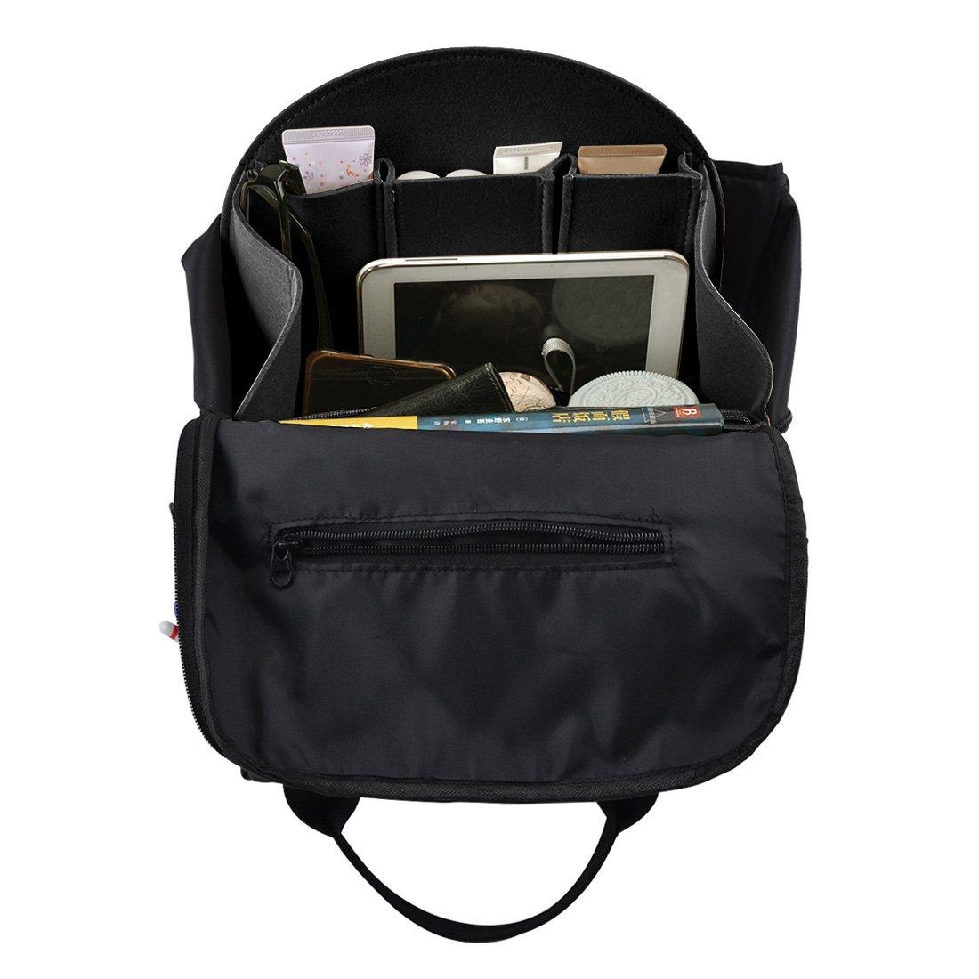 47bbea72a56c YUENA CARE Insert Bag Felt Backpack Organiser Multi Pocket for Shoulder Bag  Handbag Tote