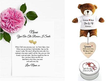 Pergamino con poema romántico (A5), carta de amor, con vela ...