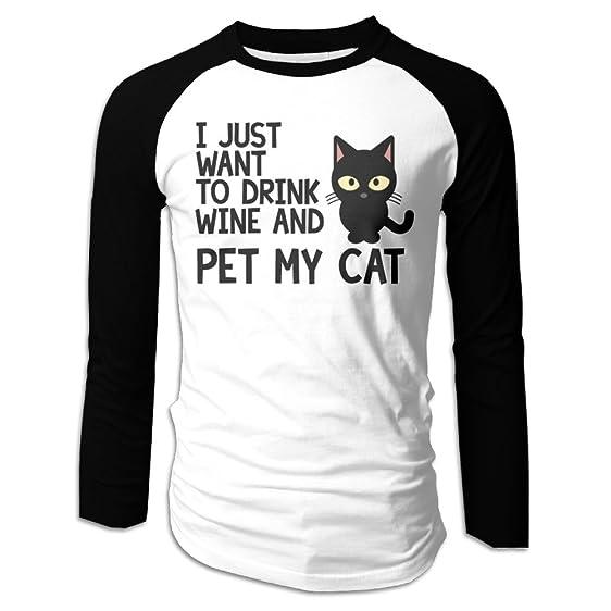 Vino & Cat Manica Lunga T-shirt 2RKZXmJQnD
