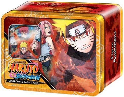- Naruto Fierce Ambitions TCG CCG Naruto Save Gaara Tin - 1 Gold Foil - 4 Packs ++