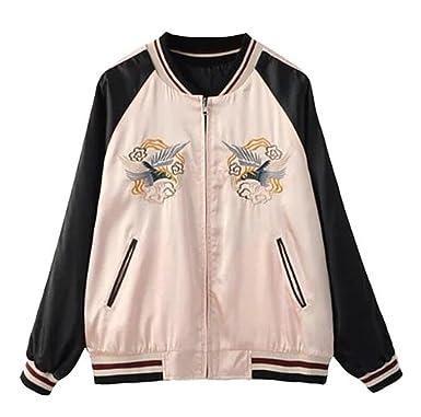 best sneakers 19552 8120d Crazycatz@Damen Stickerei Bomberjacke Pilotenjacke ...