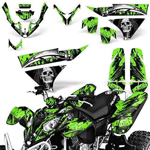 Decals Atv Quad - Polaris Predator500 2003-2007 Graphic Kit ATV Quad Wrap Decal Deco Predator 500 REAPER GREEN