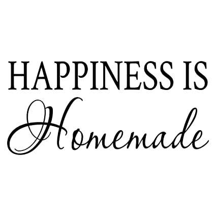 picture regarding Happiness is Homemade identified as : Basicor Contentment is Home made Wall Decal Kitchen area