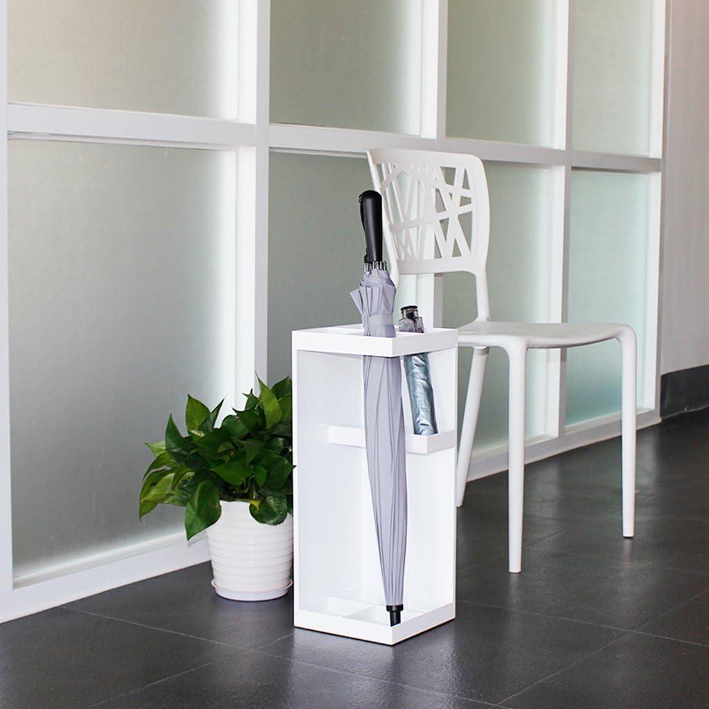 L20xW20xH50cm kein Regenschirm JBZP Wei/ßer moderner kreativer quadratischer Metallregenschirm-Standplatz mit Aufbewahrungsst/änder